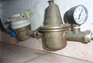 """Préconisation de pose de réducteur de pression dit de """"chantier"""" en cas de surpression sur l'installation sanitaire."""