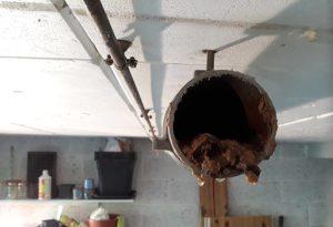 Découverte du calcaire dans des tuyaux d'évacuation de plus de 10 ans