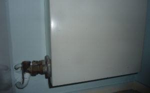 Convecteur dans une salle de bain