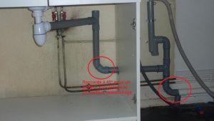 Une vidange d'évier et de Machine à Laver faite dans les normes