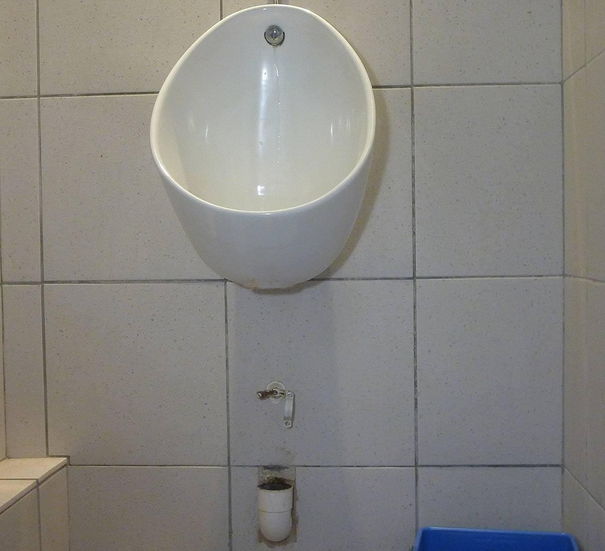 Les urinoirs ont eux aussi leur problème de vidange